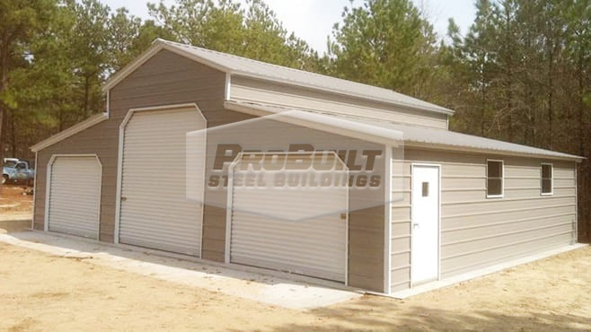 related image - 42' x 31' x 12' Closed in Carolina style barn with Vertical roof