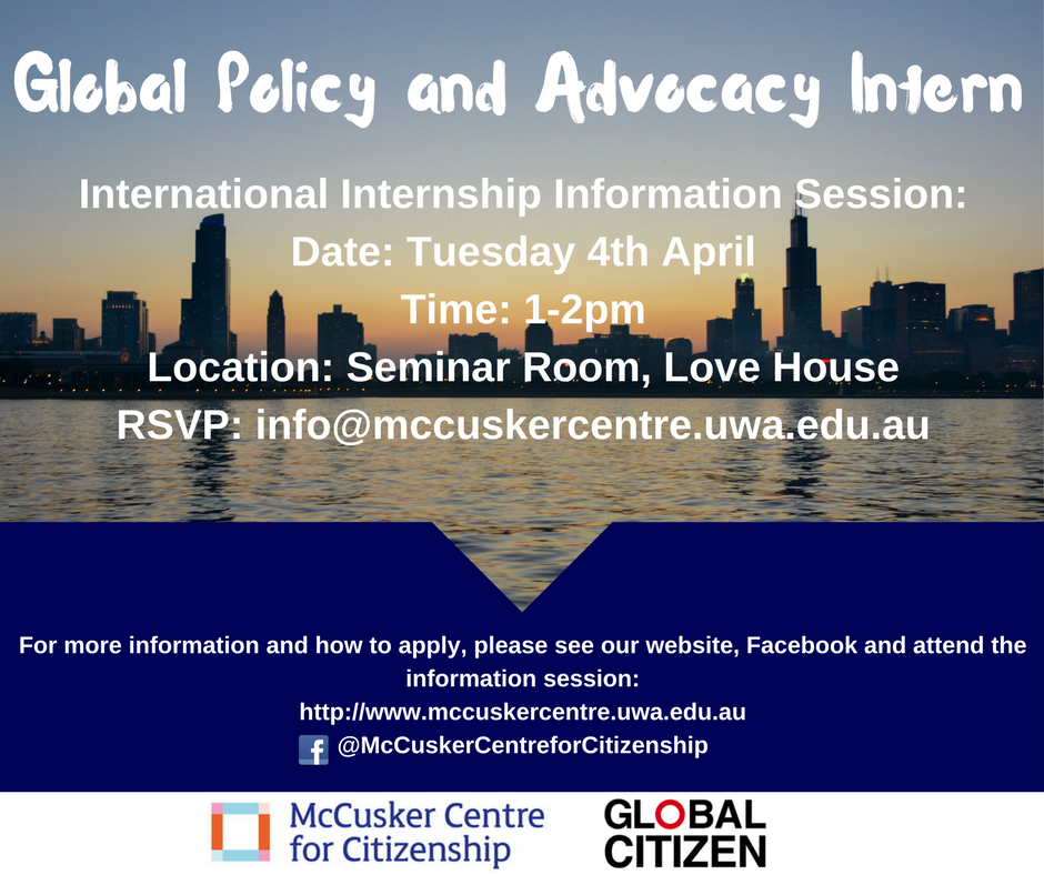 Global Policy and Advocacy Intern website