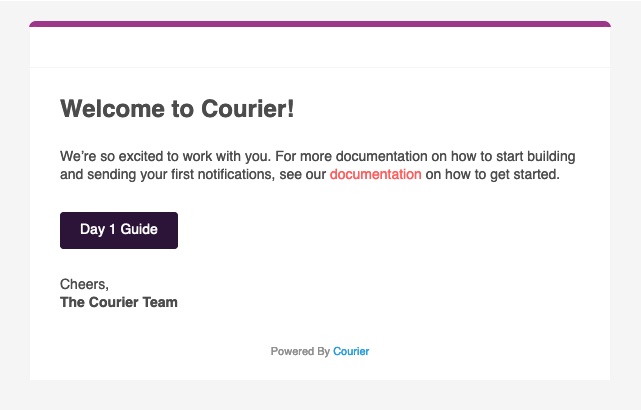 Welcome to Courier Email