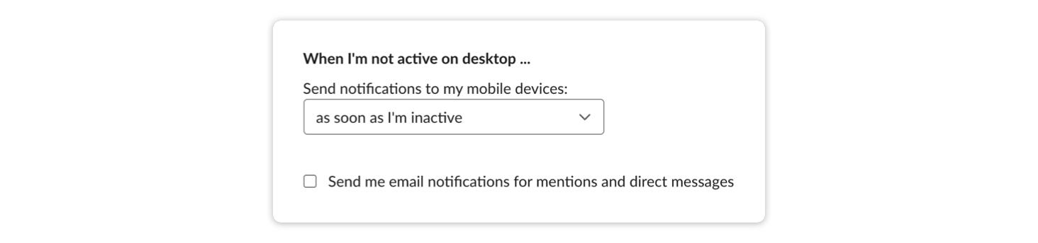 Slack's notification defaults