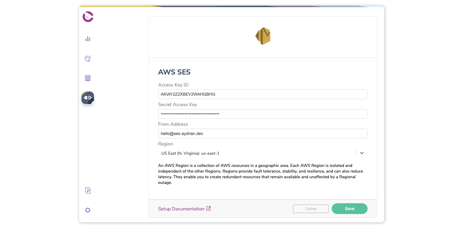 Add AWS SES integration to Courier