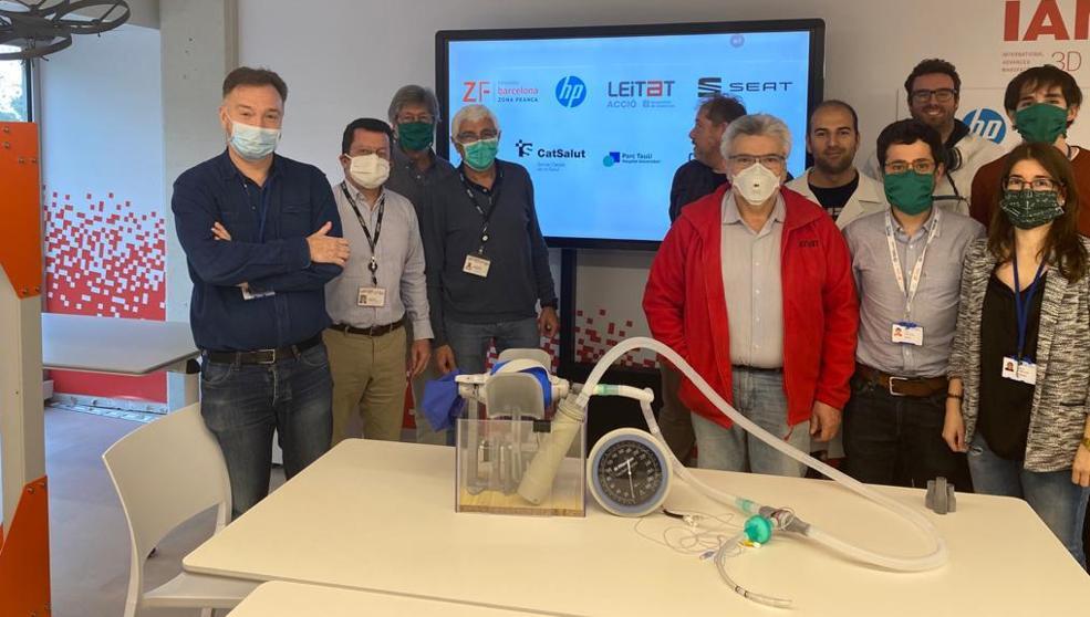 covid-19 y respirador de campaña diseñado por leitat, cst