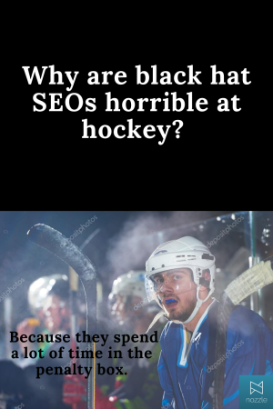 Black Hat and Hockey SEO Joke