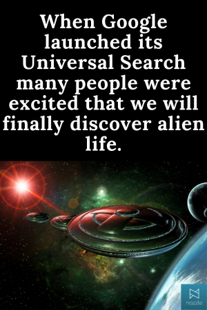 Google's Alien life Universal Search SEO Joke