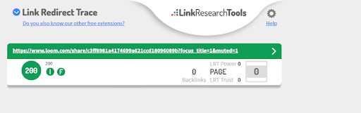 link redirect trace Chrome Extension Example
