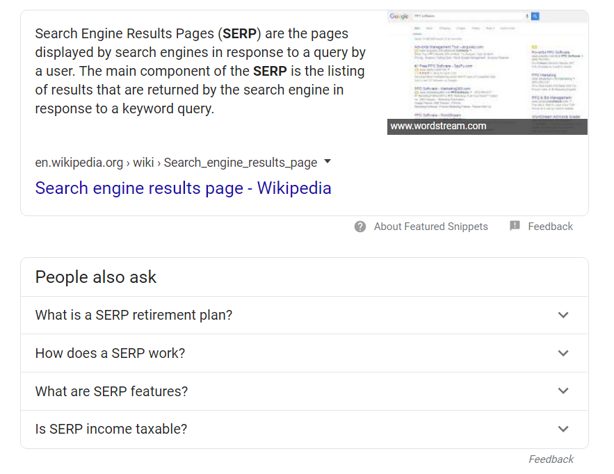 What is a SERP image