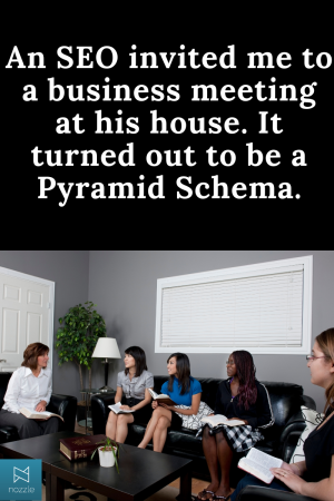 Business Meeting Turned Pyramid Schema SEO Joke
