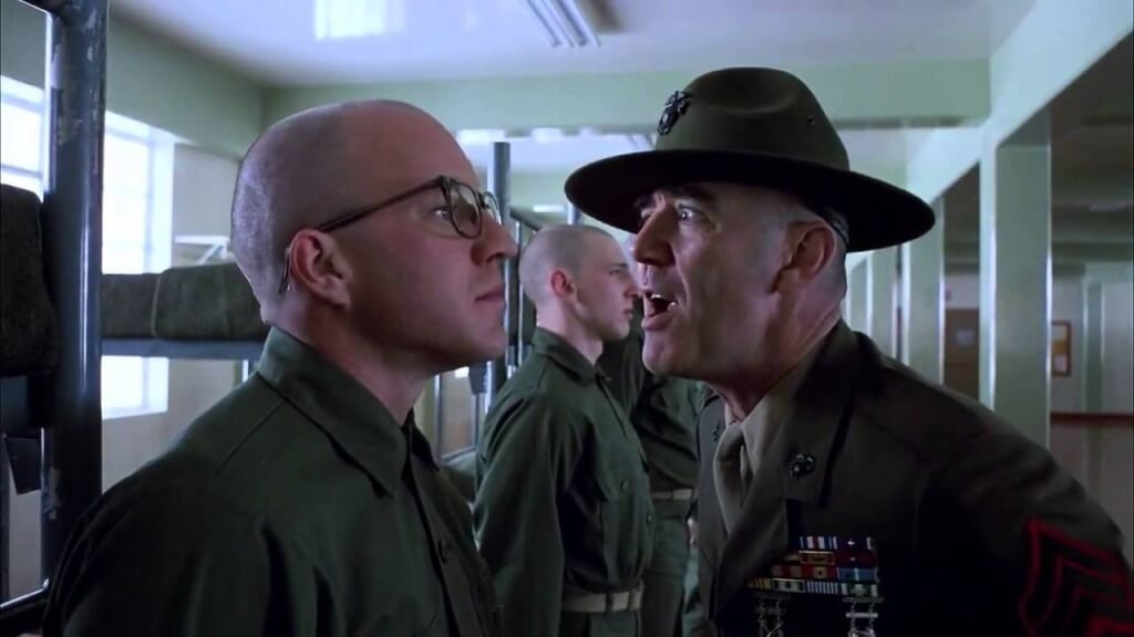 Gunnery sergeant from Full Metal Jacket