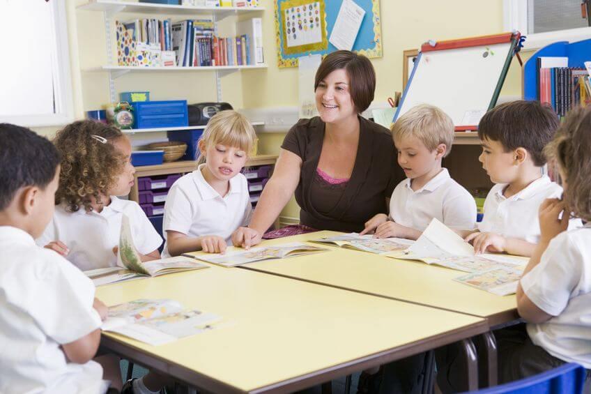 Children learning in school