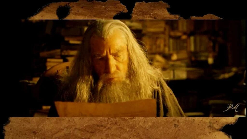 A picture of Gandalf from Lord of the Rings