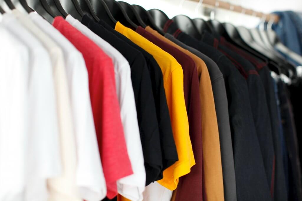 Row of shirts