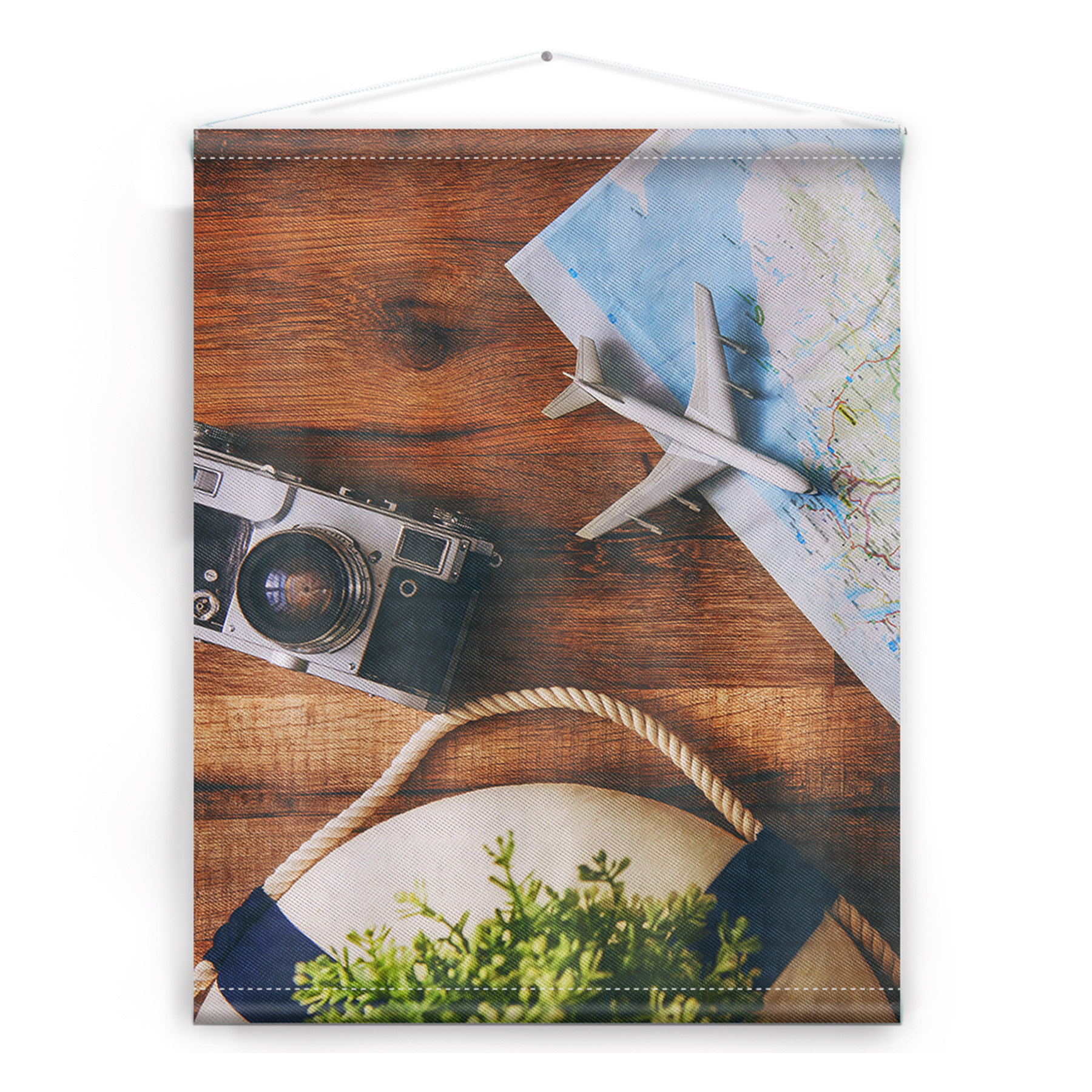 Textielposters World Traveler