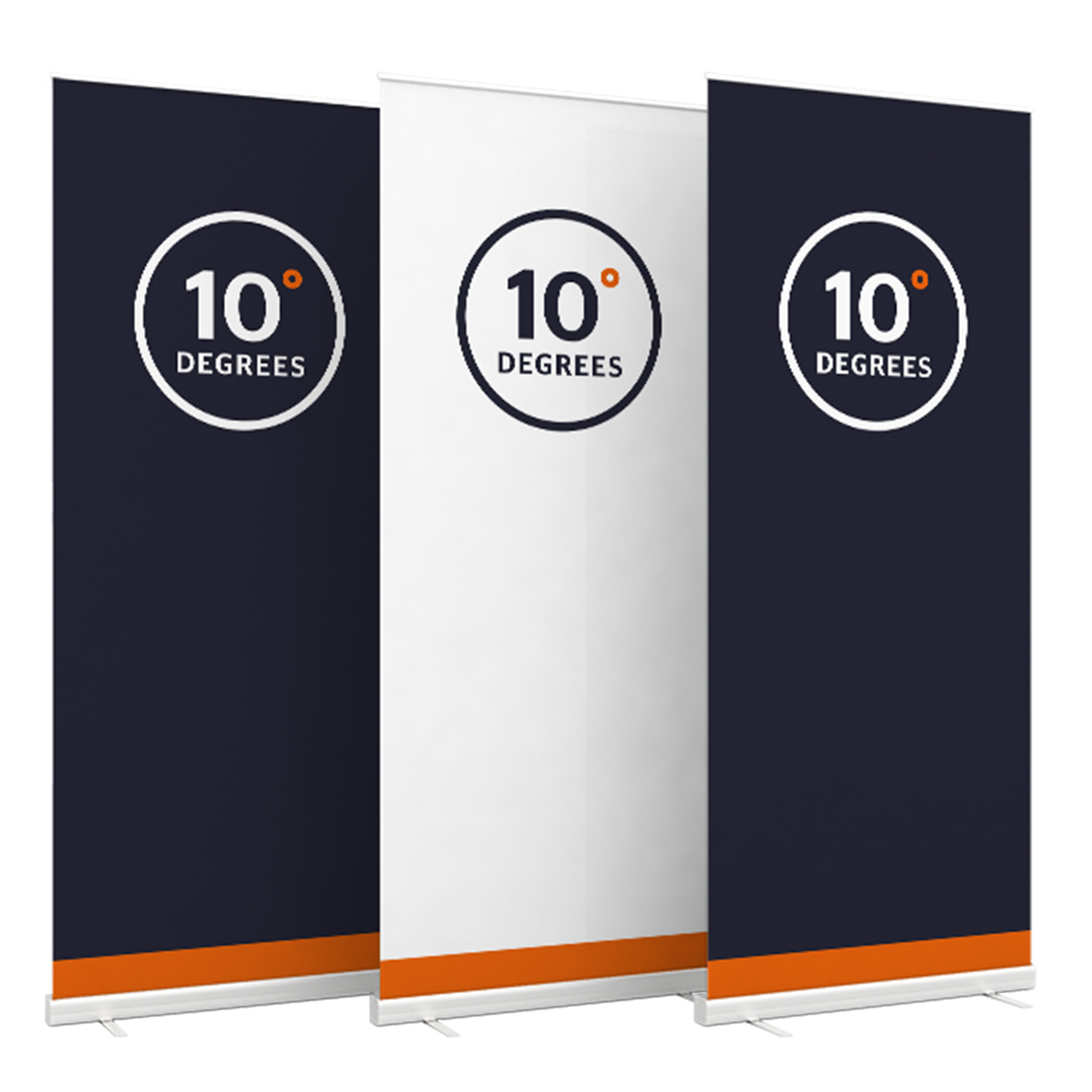 Roll-up banners 10 Degrees
