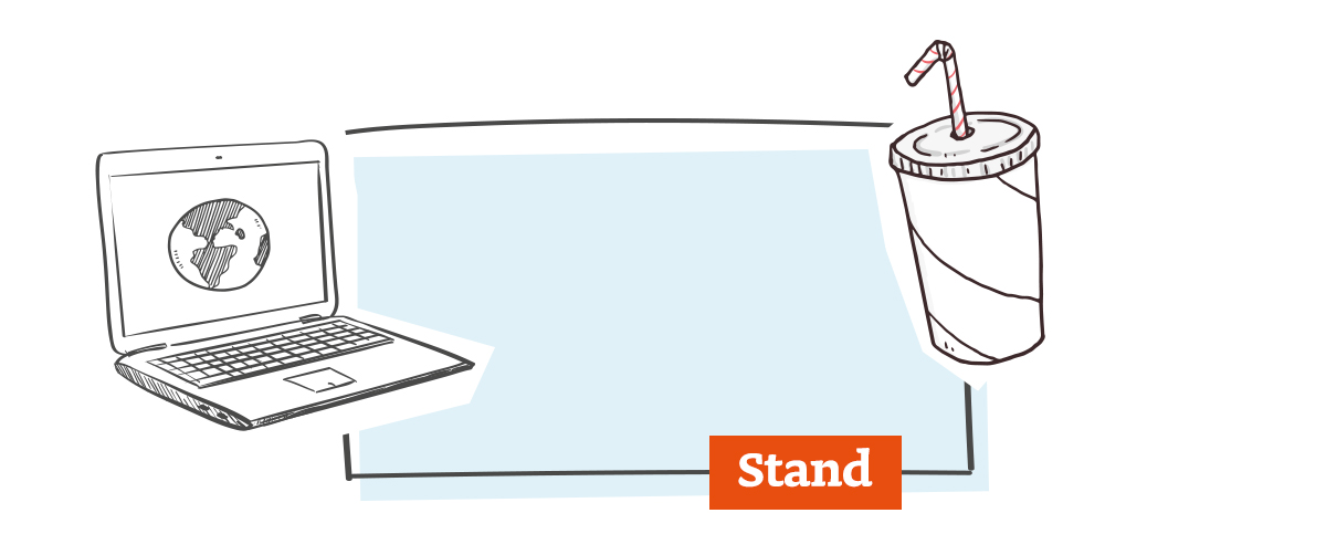 Beursstand-stand