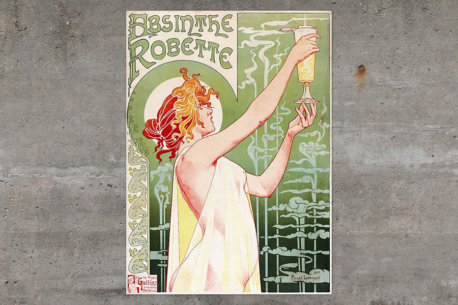 740px-Privat-Livemont-Absinthe Robette-18961