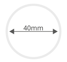 Diamètre de base de 40 mm