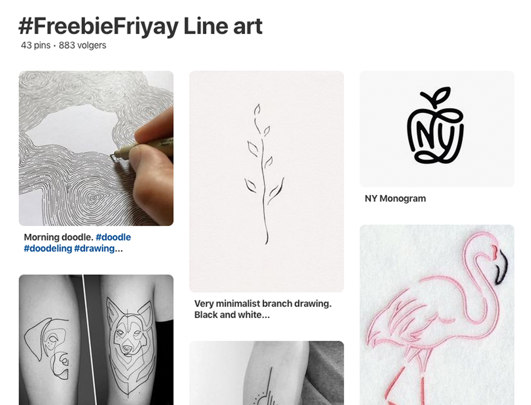freebiefriyay-week-69 pinterest-line-art