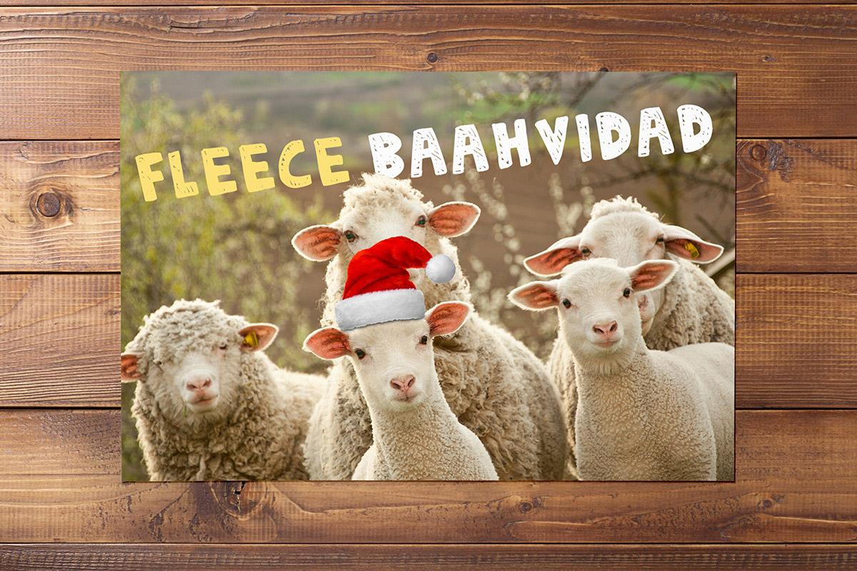 Kerstkaart-Fleece