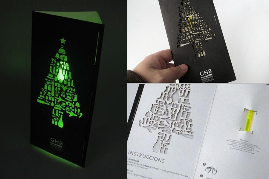 Kerstkaarten-licht