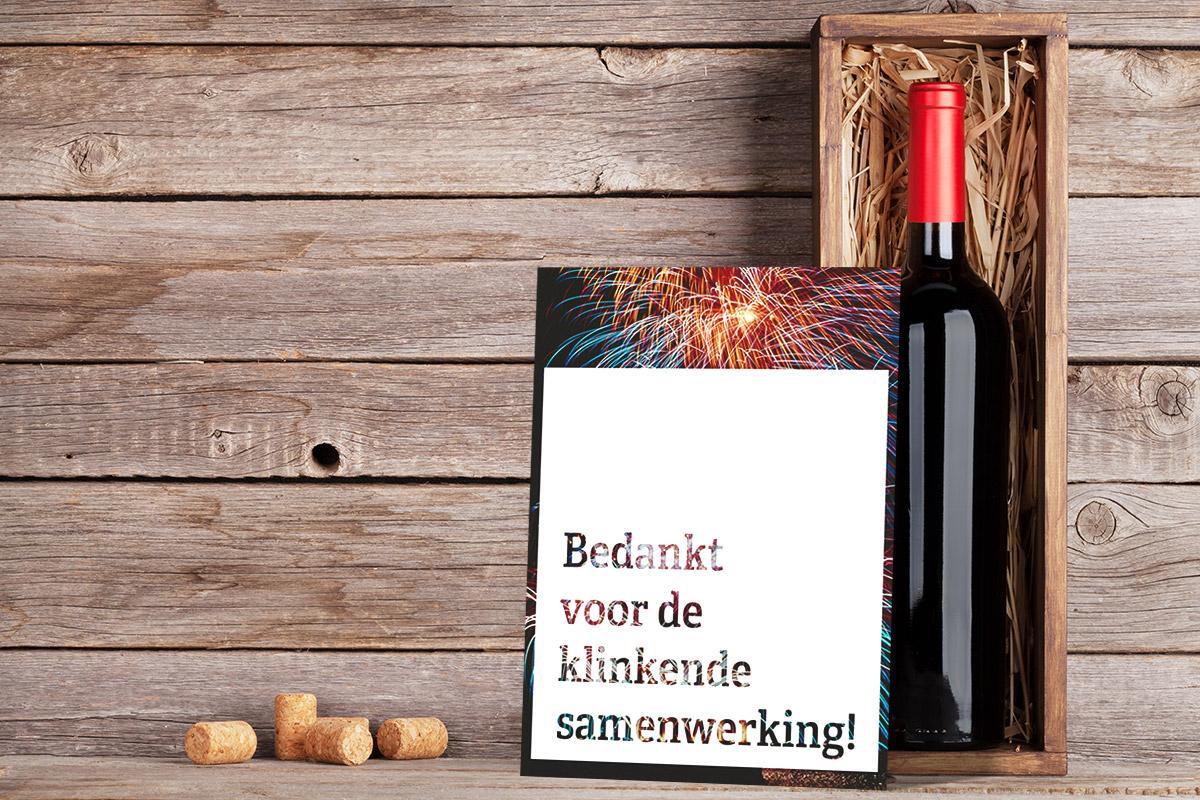 Kerstkaart-wijn
