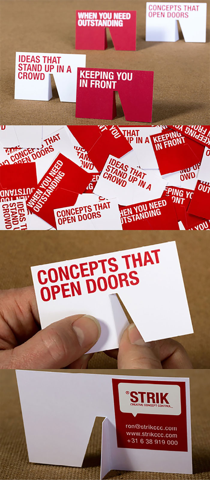 clever-die-cut-3D-stand-up-business-card-for-a-creative-agency
