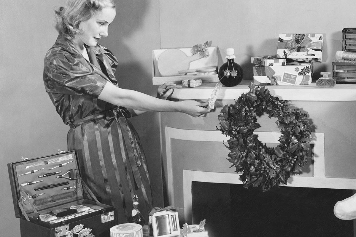 Geschiedenis kerstpakket oud