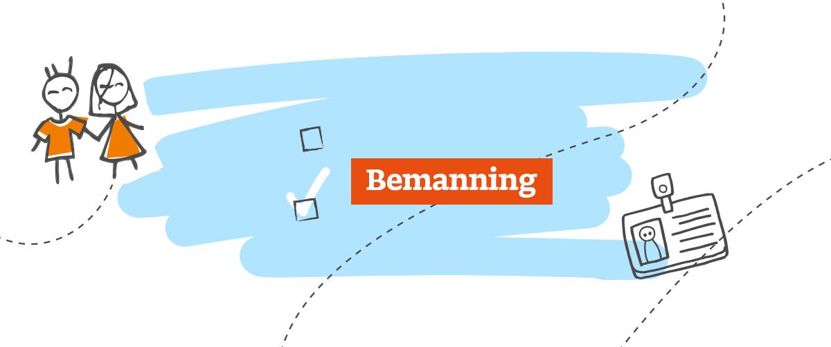 Beursstand-bemanning