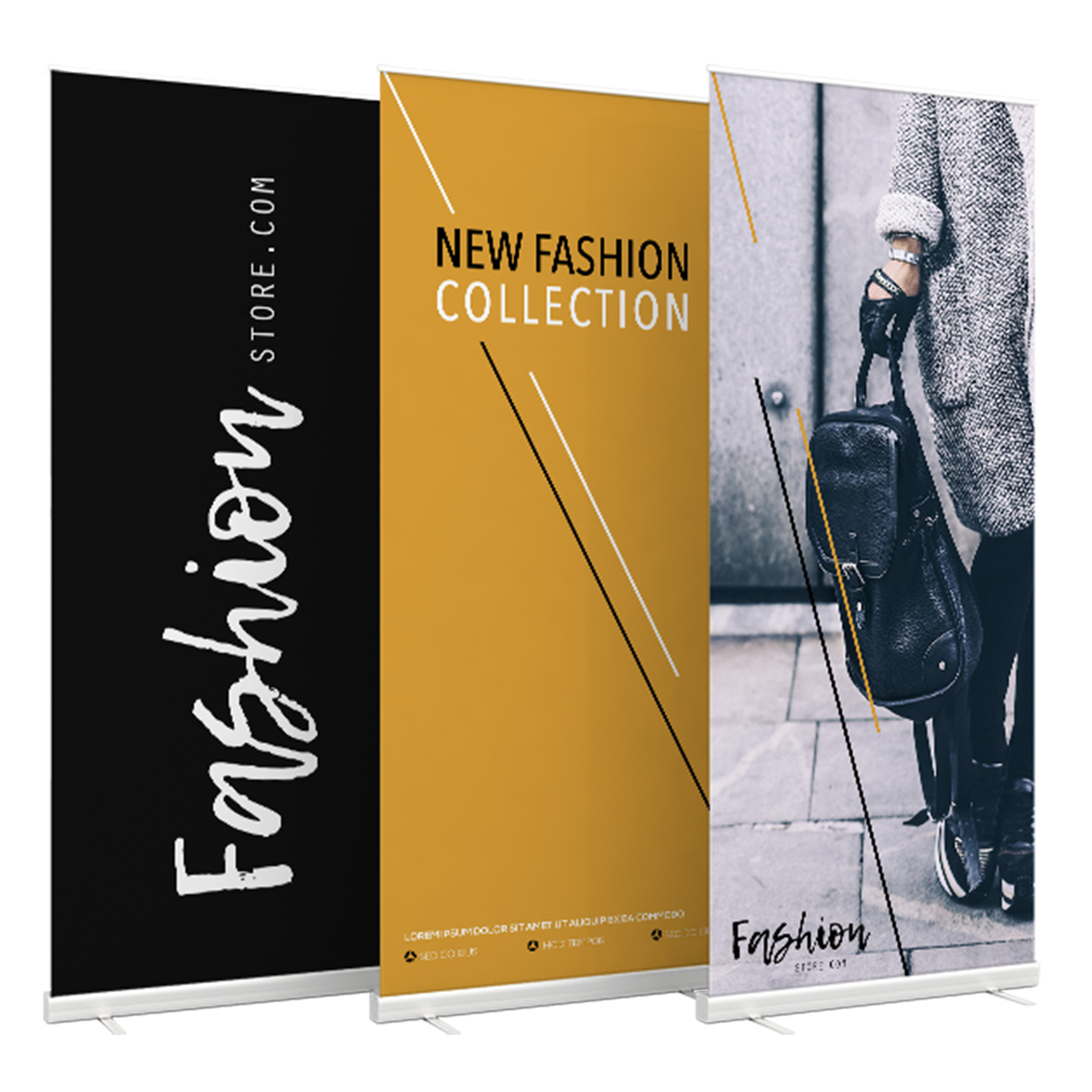 Roll-up banners Fashion Store