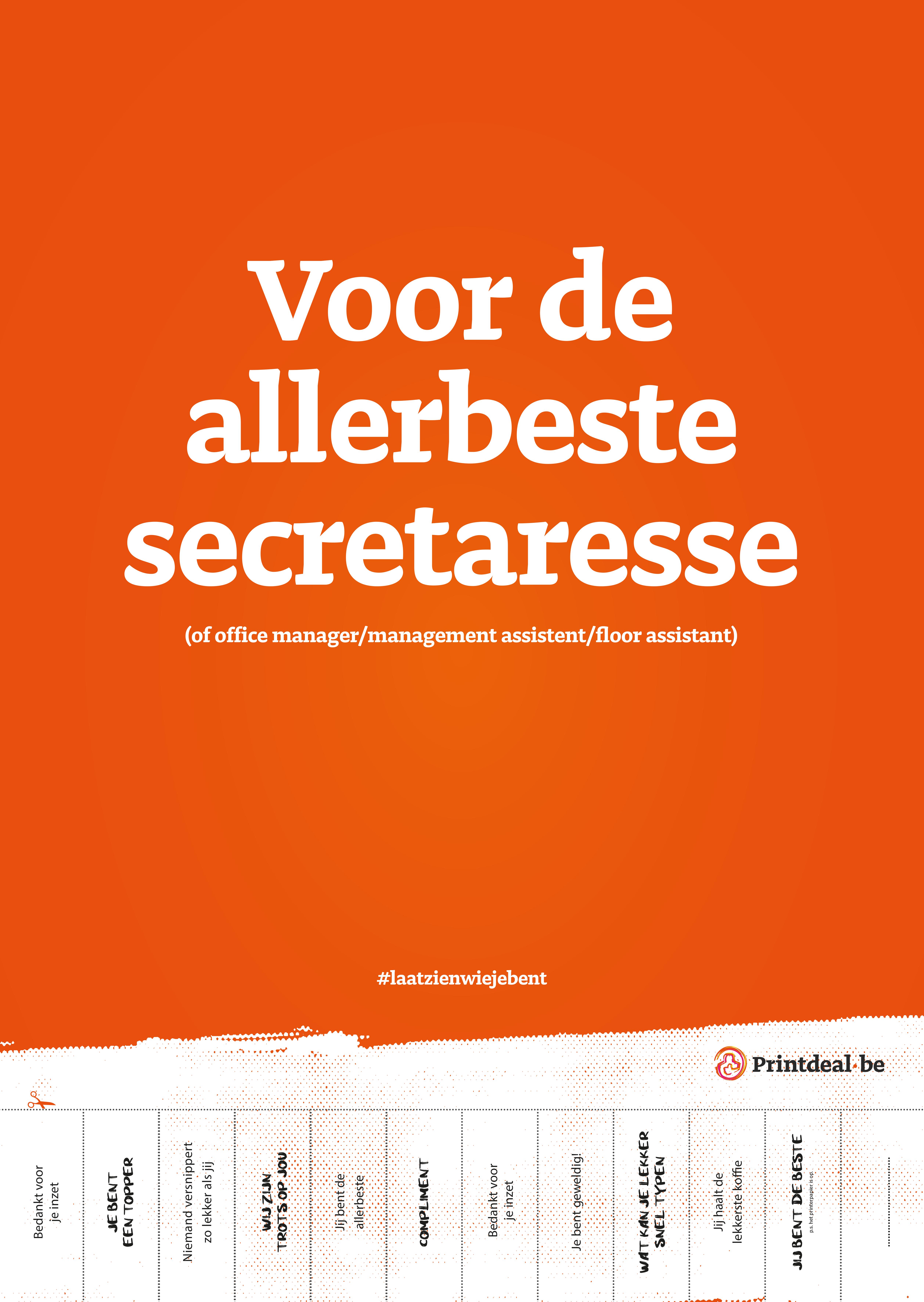 Poster-secretaressedag-2019 printdealNL