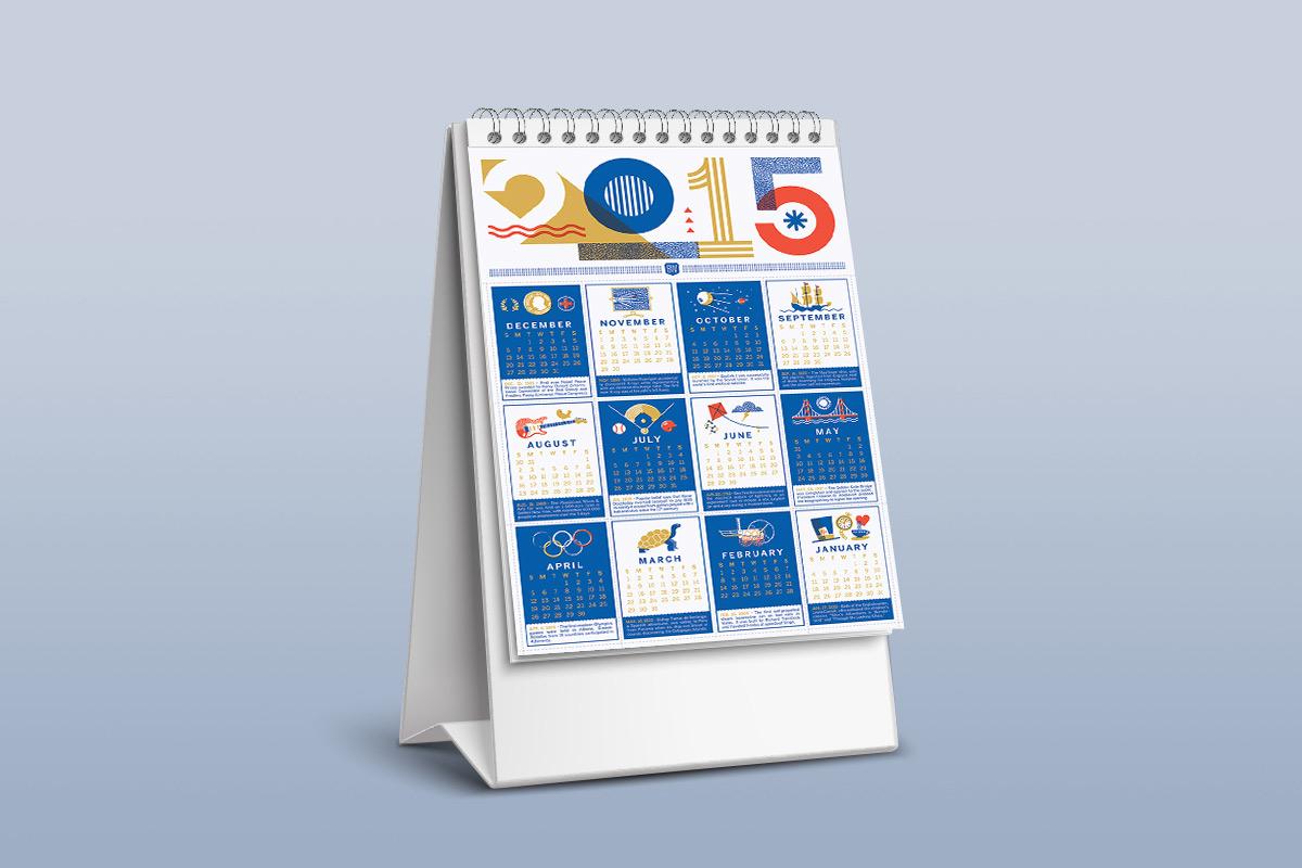 Bureau-kalender geschiedenis
