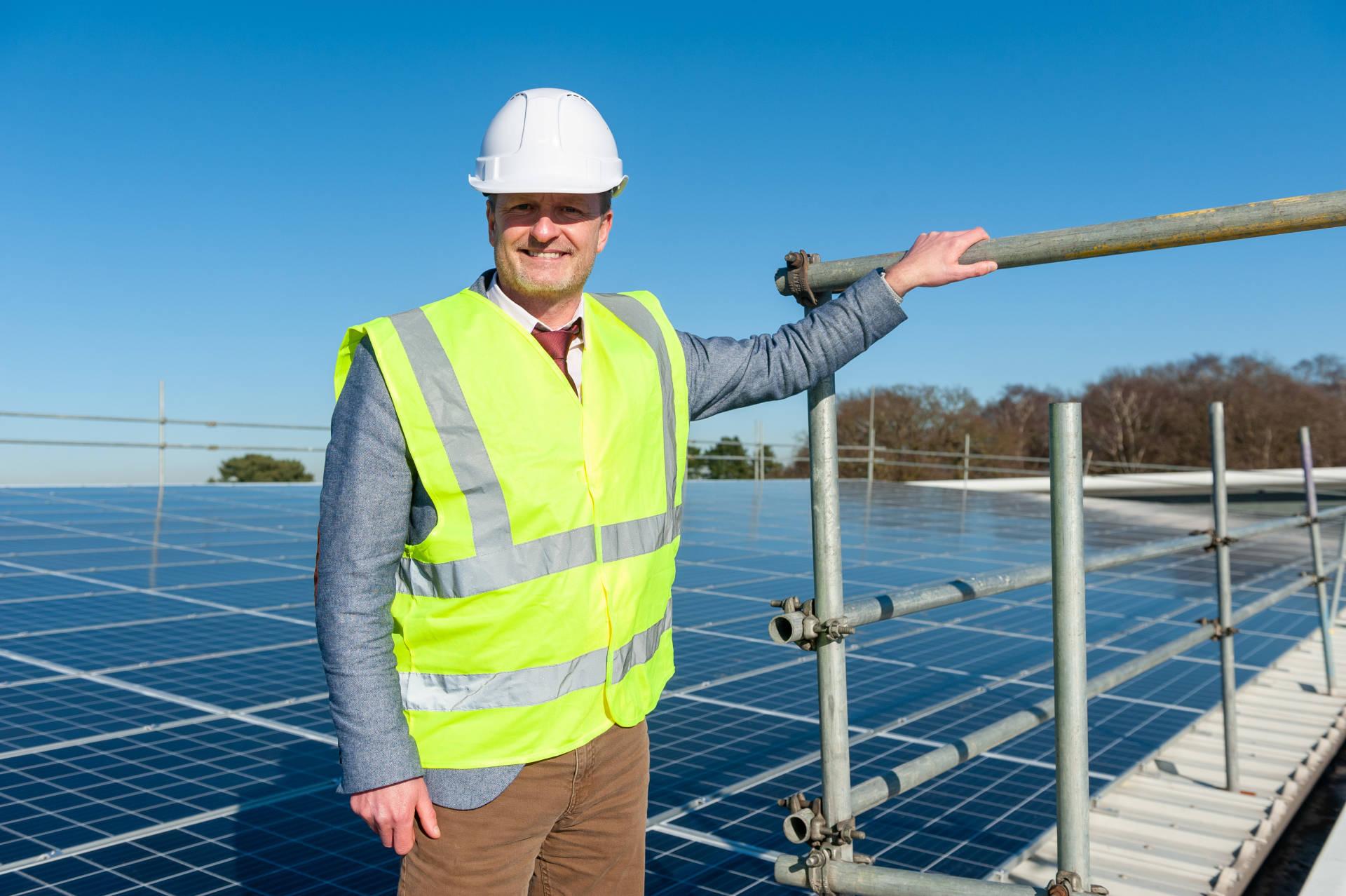 Paul Farrer with Solar Panels