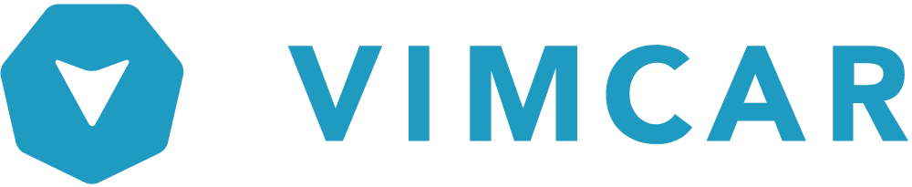 vimcar logo blue on transparent box