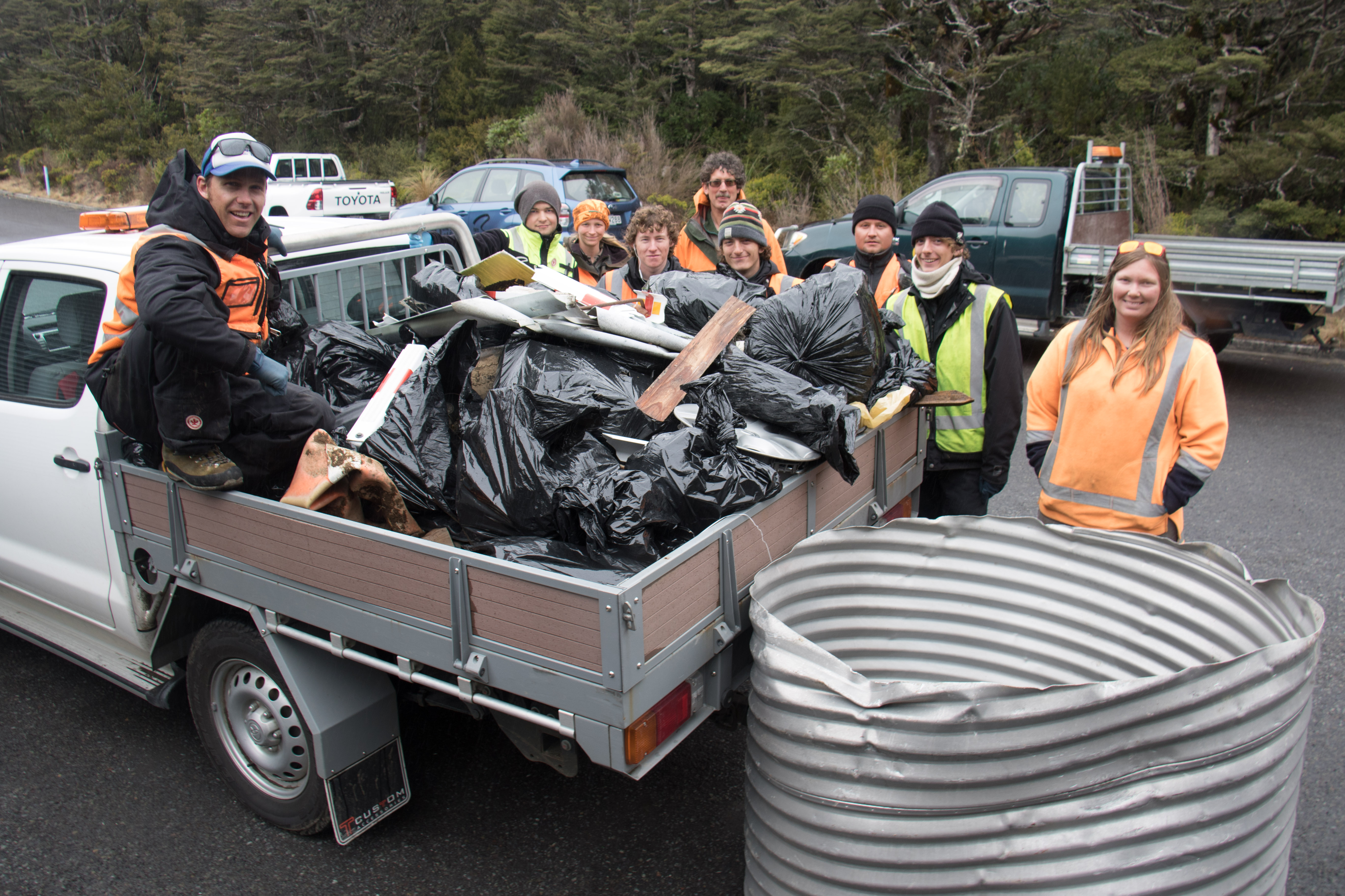 6kms later 1.5 cubic metres of rubbish (Whakapapa)