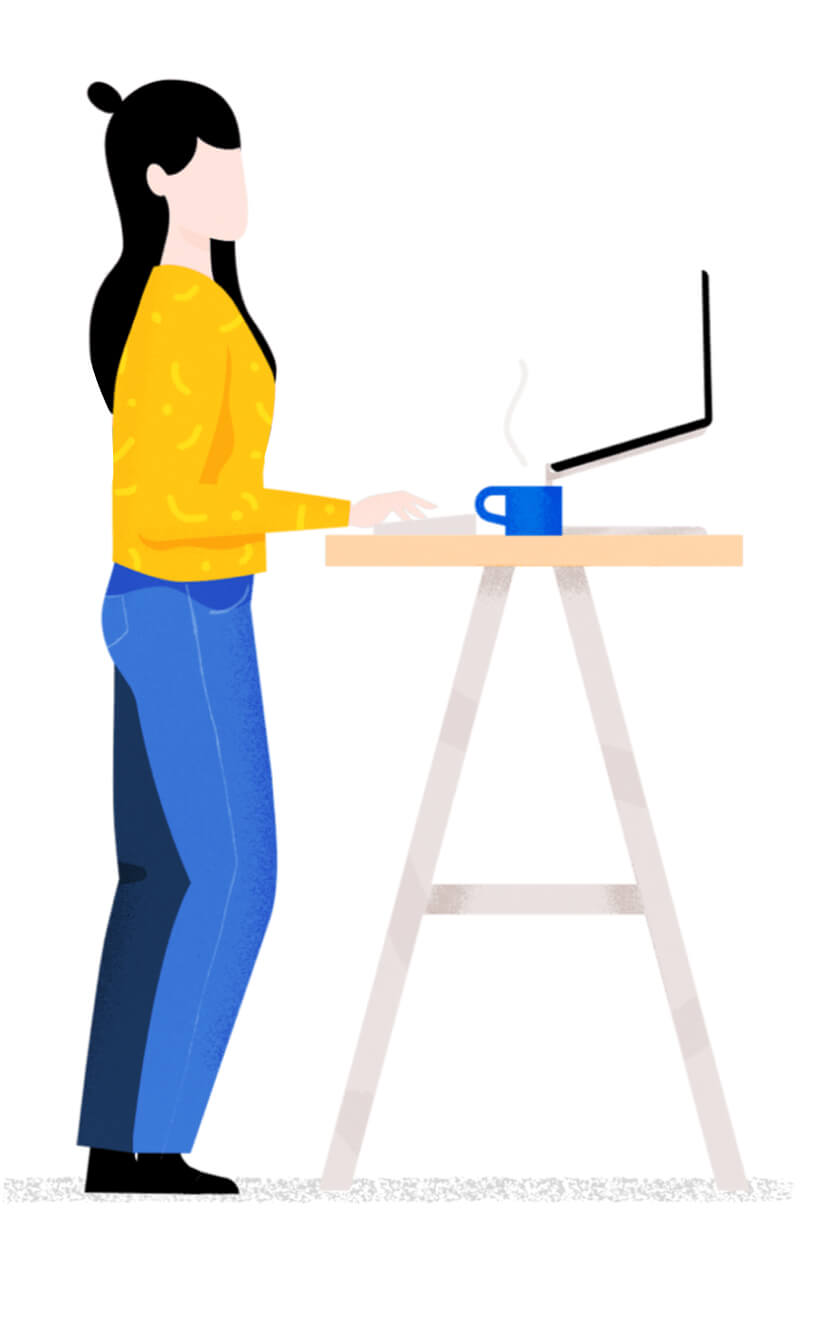 Illustration of female worker. Use the right tools for the job.