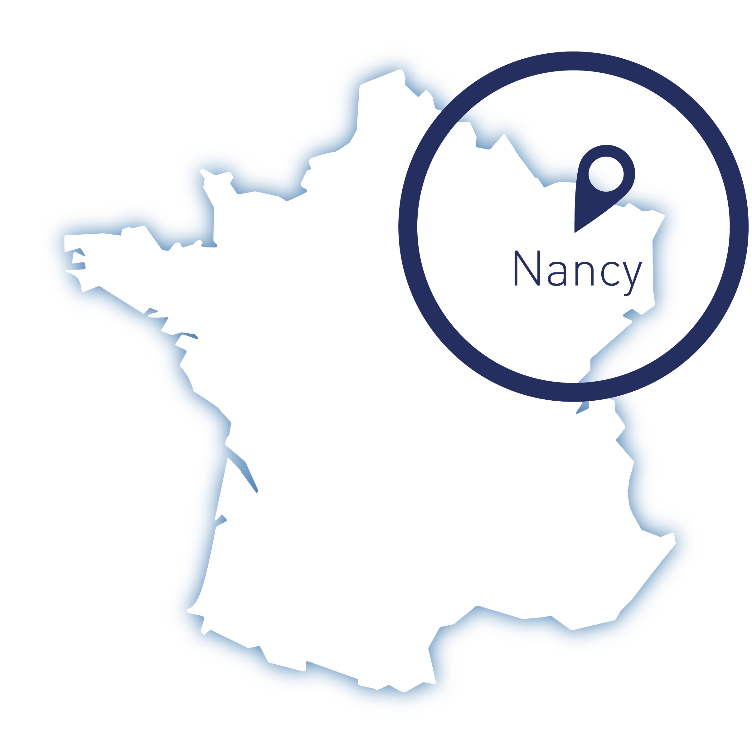 Nancy, carte France