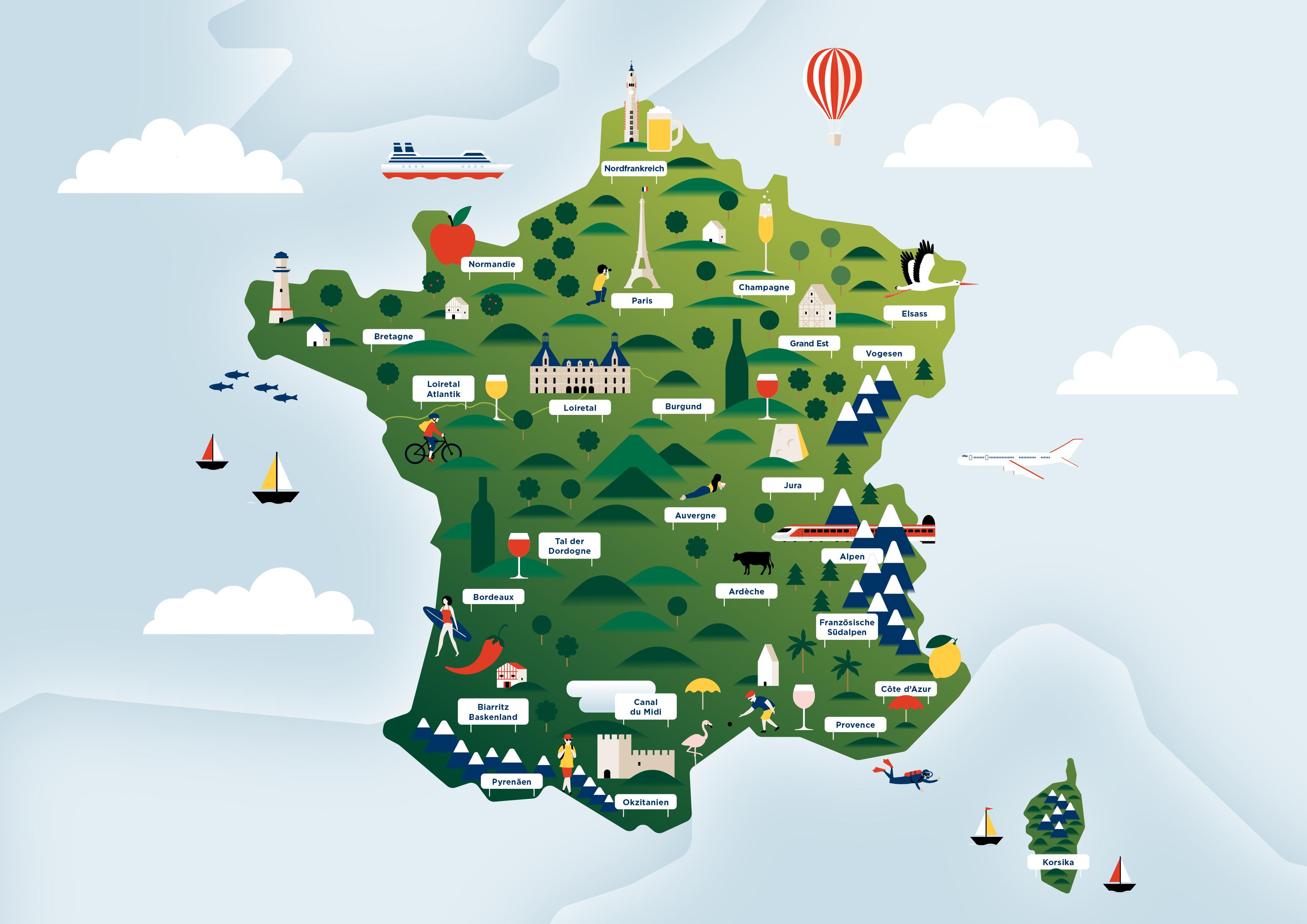 Frankreichkarte - Was wirklich zählt