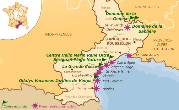 Nudist Beaches in LanguedocRoussillon
