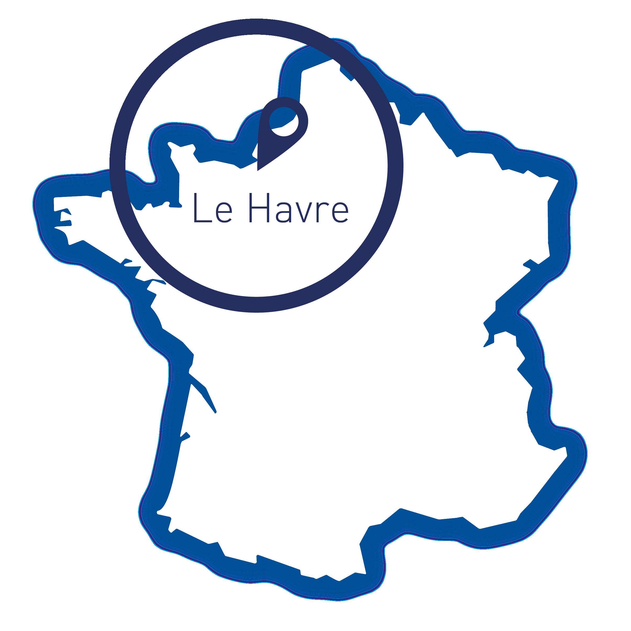 Le Havre, carte France