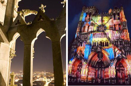 Horloge Marie sans chemine et Cathédrale Notre-Dame-d'Amiens, ®F.Leonardi