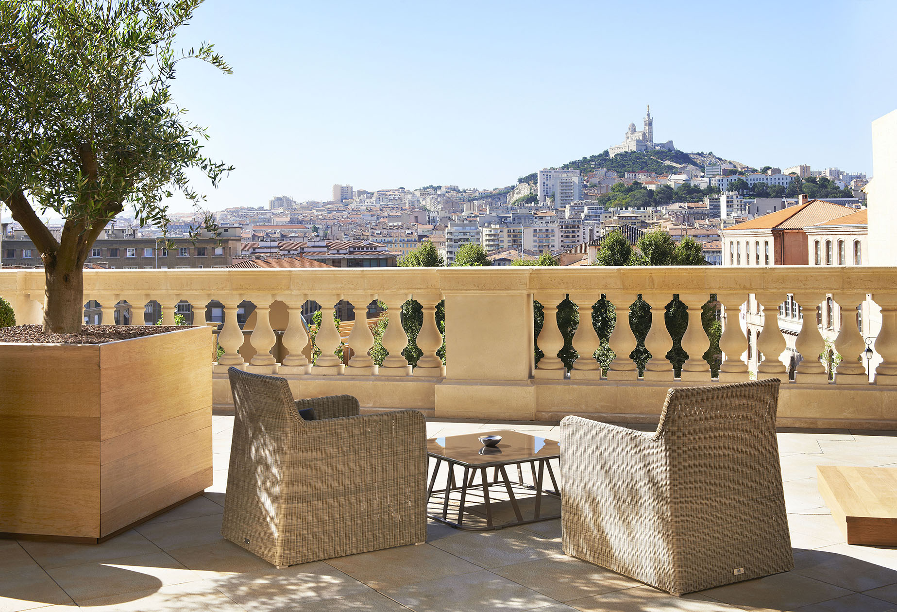 Terraces With A View Of Marseille S Vieux Port