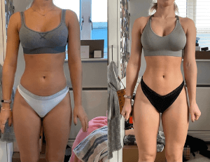 Transformation image of FittAF client Steph.