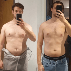 Fitness transformation image of FittAF client Tom.