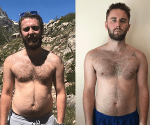 Fitness transformation photo of FittAF client Tom