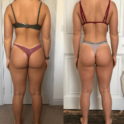 Fitness transformation photo of FittAF client Grace