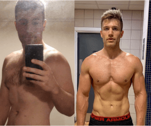 Fitness transformation photo of FittAF client Tim