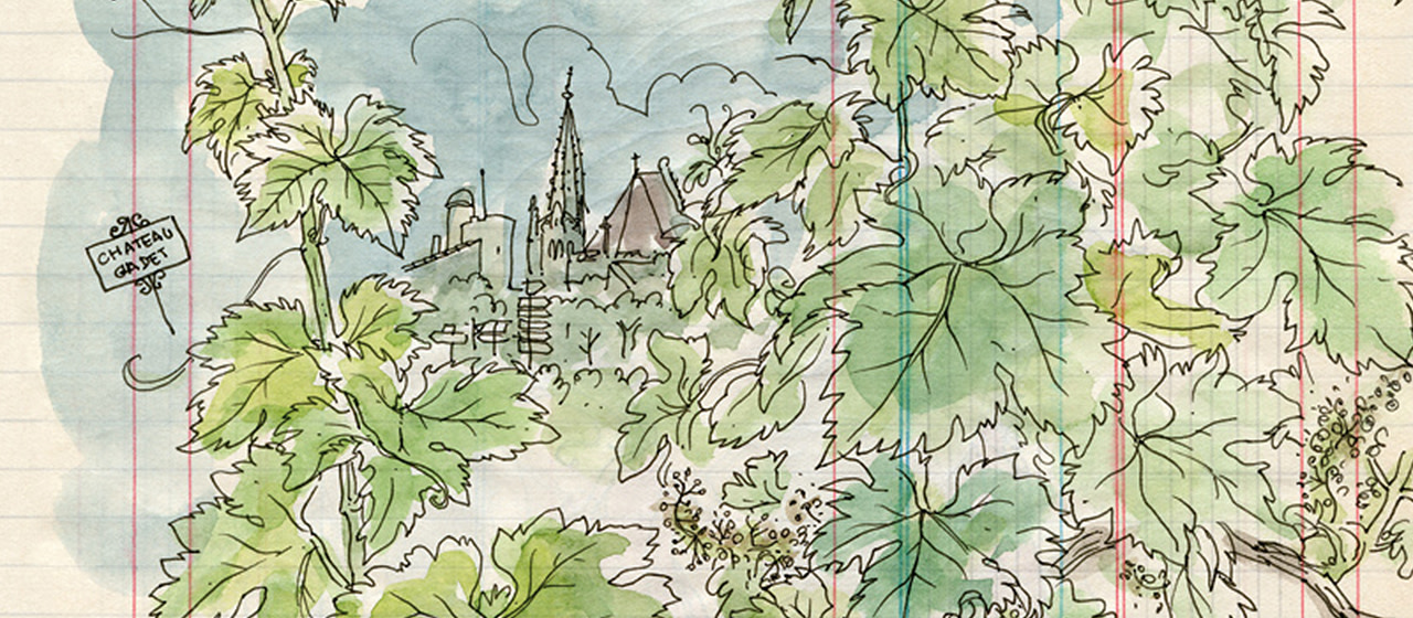 Saint-Émilion, playground for the illustrator, Lapin. Drawings offer a view
