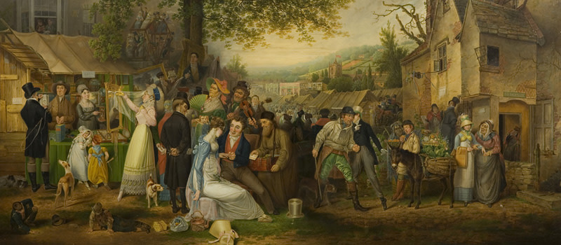Samuel Colman (1780–1845), St James s Fair, Bristol,-800
