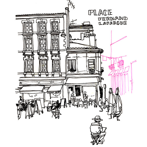 Sketching a path through the heart of Bordeaux