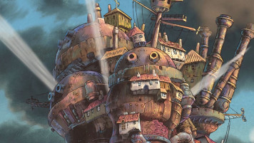 The-Moving-Castle-at-sunset©2004-Studio-Ghibli