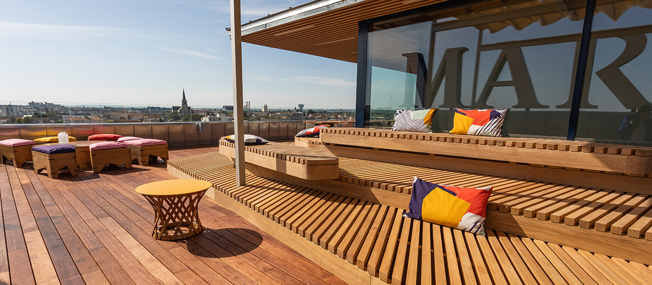 rooftop indigo by martell, cognac, france